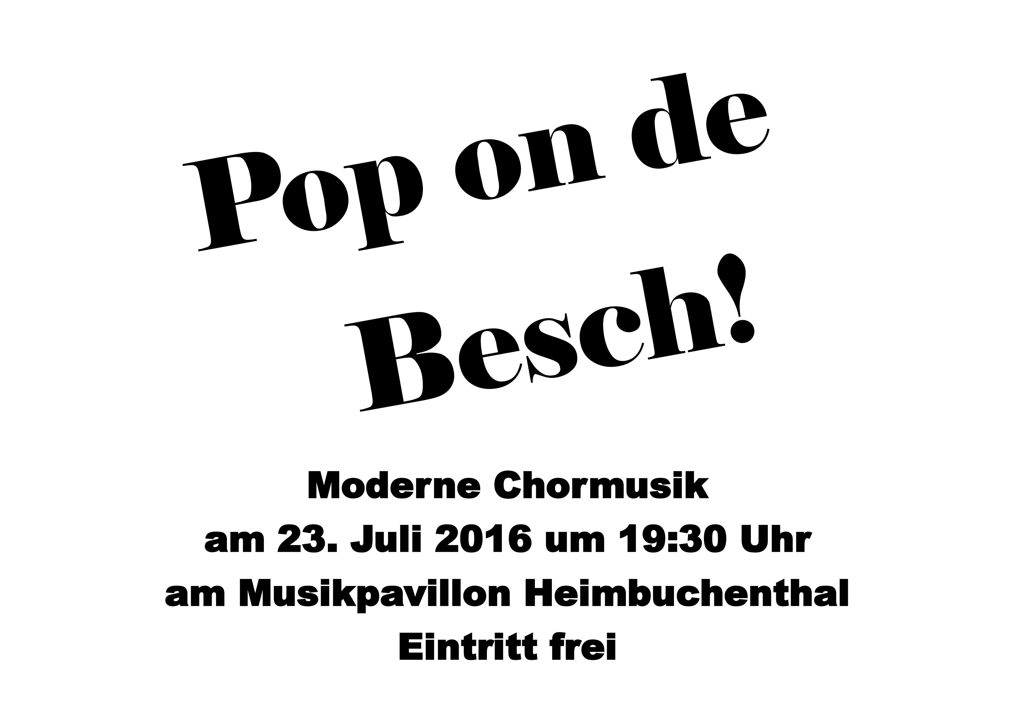 Pop on de Besch 2016